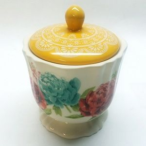THE PIONEER WOMAN Rose Floral Stoneware Sugar Dish